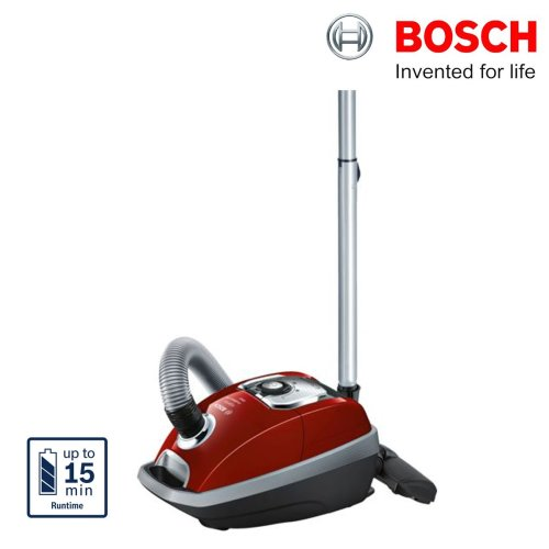 Bosch BGL8SI59GB Bagged Vacuum Cleaner HEPA Filter ProSilence 59dB Red Pepper