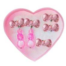 [Pink]Children Stylish Clip-on Earrings A Lovely Earrings For Girls
