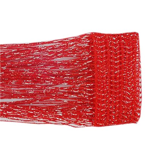Set of 2 Door String Curtain Window Panel Room Divider Strip Curtain, Red