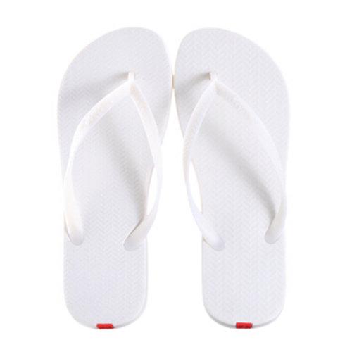 Unisex Casual Flip-flops Beach Slippers Anti-Slip House Slipper White