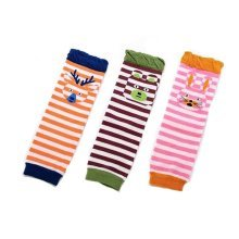Baby Cotton Socks Baby Leggings Comfy Leg Guards,3 Sets?Stripe 2 )