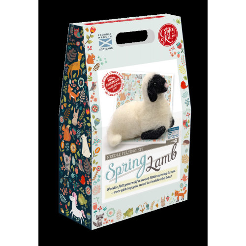 Spring Lamb Needle Felting Kit - Includes everything you need- By The Crafty Kit co.