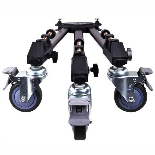 Dolica LT D100 Professional Lightweight and Heavy Duty Tripod Dolly with Adjustable Leg Mounts