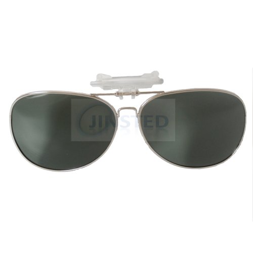 Green Aviator Clip On Flip Up Sunglasses ACP018