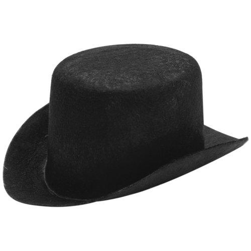 "Stiffened Felt Top Hat 5.5""-Black"