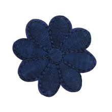 12PCS Embroidered Fabric Patches Sticker Iron Sew On Applique [Flower Blue C]