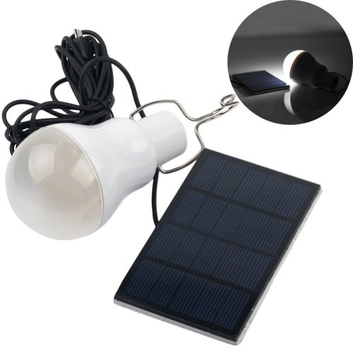 Portable Solar Chargeable LED Bulb Lamp Outdoor Lighting Camp Tent Fishing Lamp 120LM