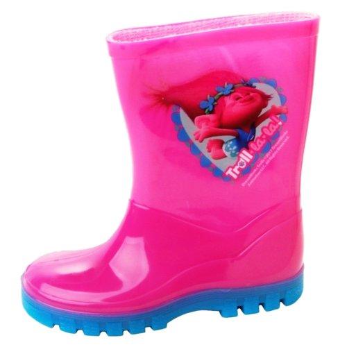 Girls Trolls Poppy Lala Pink Wellies