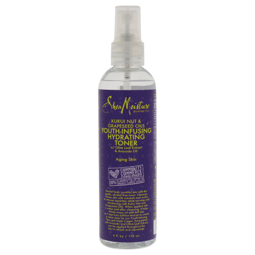 Kukui Nut & Grapeseed Oils Youth-Infusing Hydrating Toner by Shea Moisture for Unisex - 4 oz Toner