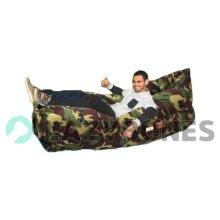 Lazy Bones Camouflage Portable Air Sofa- Gardens, Festivals/ Camping