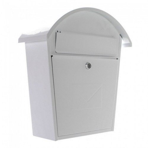 Traditional Post Box Steel Wall Mounted White Rottner Jesolo