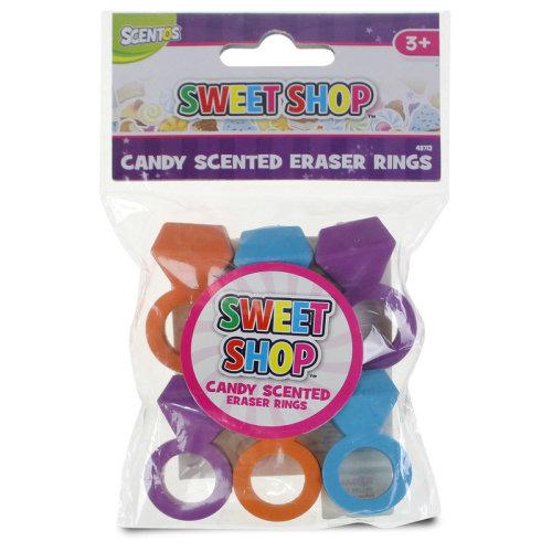 Sweet Shop Eraser Rings 6pk