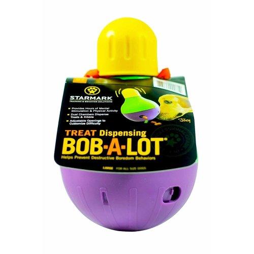 (Large) Starmark Treat Dispensing Bob-A-Lot | Dog Treat Dispenser Toy