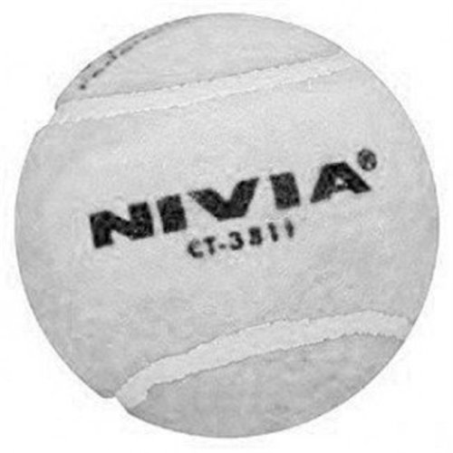 HEAVY TENNIS CRICKET BALL - WHITE