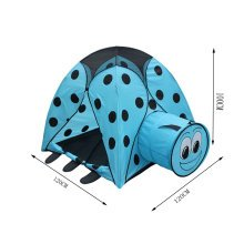 Cute Beatle Kids Indoor/Outdoor Play Tent with Tunnel(3 to 6 Years Old,Blue)