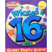 Age 16 Large Birthday Badge Male