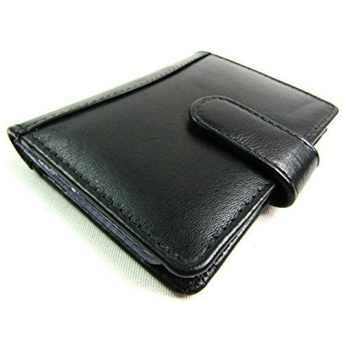 55f4cd64395 Soft Black Leather Credit Card Holder with RFID Protection - 20 Cards on  OnBuy
