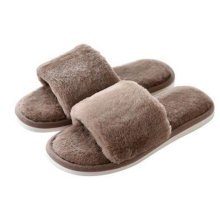 Fashion Mens Winter Warm & Cozy  Indoor Shoes Skidproof House Slipper, Brown