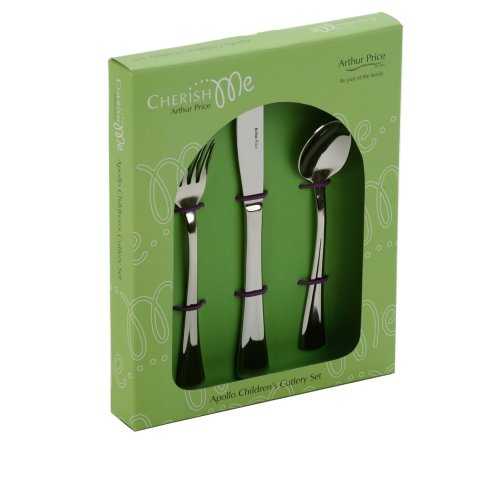 Arthur Price Apollo Design 3 Piece Child's Cutlery Set