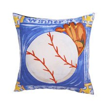 Sports Theme Decorative Pillow Case Cushion Case Baseball 17.7 by 17.7 inch