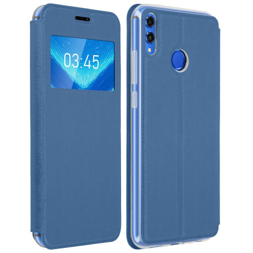 online store c82e7 9775f Window flip case flip wallet case with stand for Honor 8X - Blue