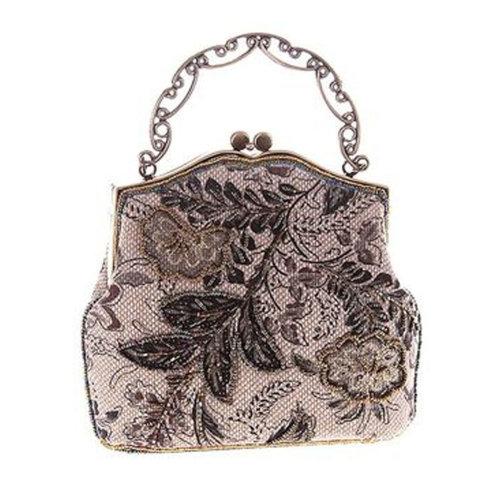 Women's Vintage Style Clutch Evening Bag Elegant  Luxurious Handbag Purse-Banquet-Cocktail Party,D