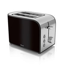 Swan 2 Slice Toaster with Browning Control - Black (Model No. ST17020BLKN)