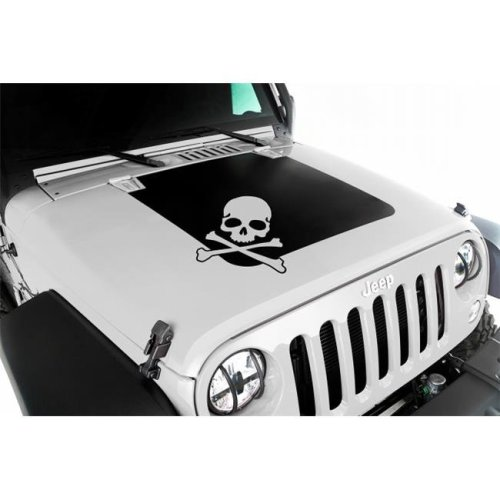 Omix Ada 12300.13 Hood Decal, Skull, 07-16 Jeep Wrangler