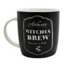 Witches Brew Mug Cup Pagan Kitchen Novelty Gift Black White Ceramic Tea Coffee