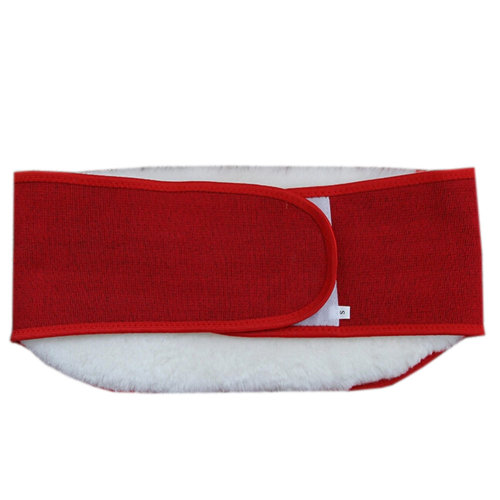Keep Your WAIST/STOMACH/TUMMY Warm Fleece Waist Belt RED L