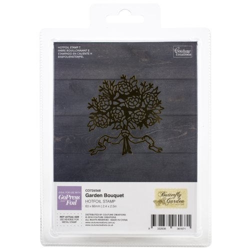 "Couture Creations Butterfly Garden Hotfoil Stamp-Garden Bouquet 2.4""X2.5"""