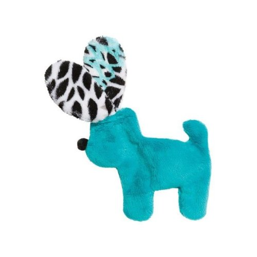 West Paw 8000426 Teal Bloom Floppy Dog Plush Dog Toy, Small - Case of 12
