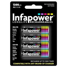 Infapower B003 Rechargeable AA Ni-MH Batteries 1300mAh