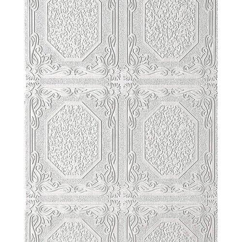 Wall ceiling wallpaper EDEM 101-00 decor textured vinyl white 5.33 sqm