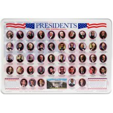 "Painless Learning Laminated Placemats 17.5""X12.25""-Presidents"