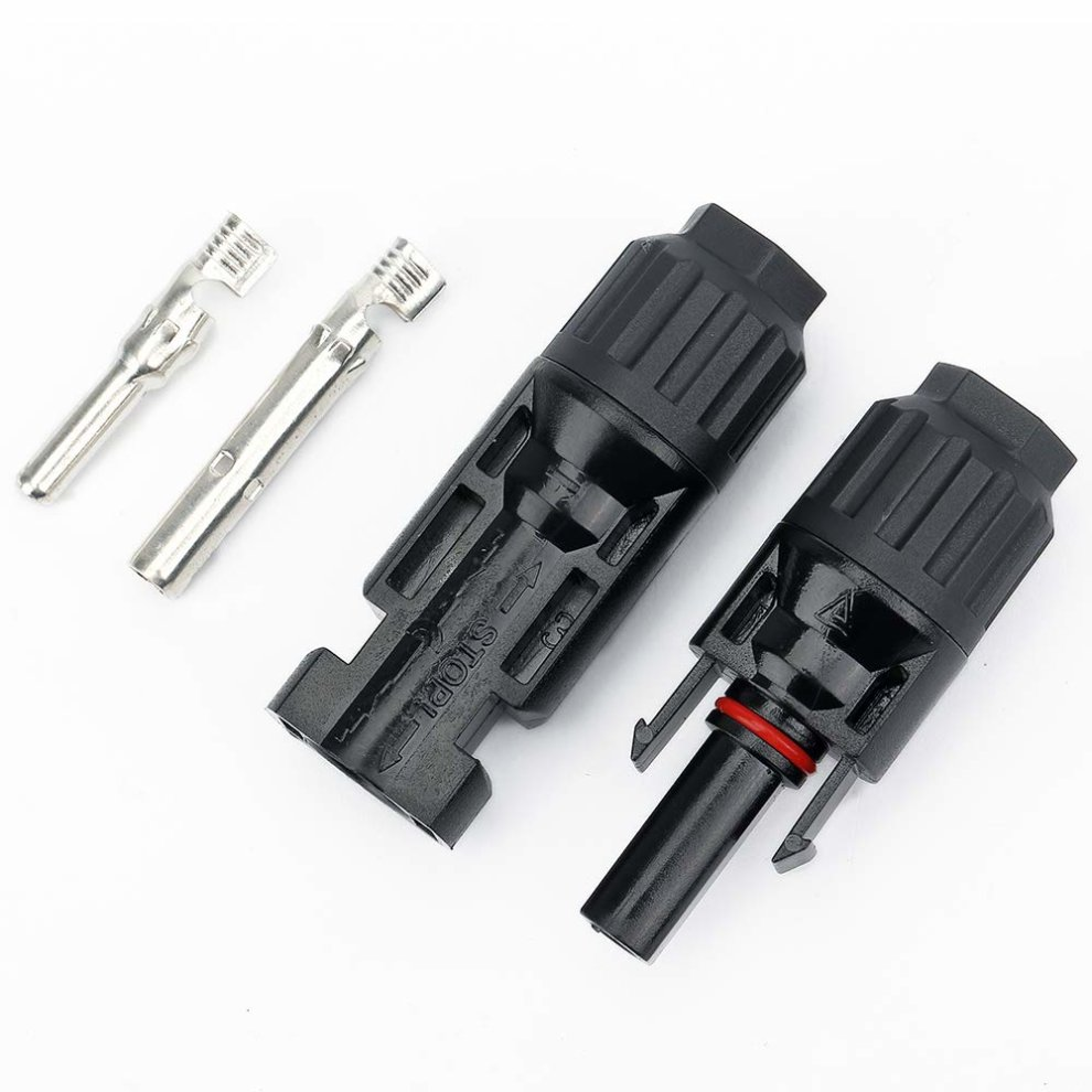 BougeRV 6 Pair MC4 Solar Cable Male Female Connectors for Solar Panel Cable  PV Systems Black