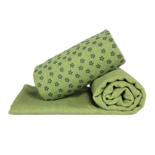 Indoor Sport Non-slip Yoga Sheet Blanket Yoga Towel Yoga Accessory 183 CM * 63 CM-Green A