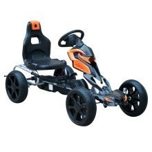 HOMCOM Kids Ride On Pedal Go Kart Sports Toy Braking System - Orange