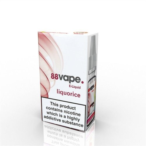 88 Vape E-Liquid Nicotine 16mg Liquorice 10ML