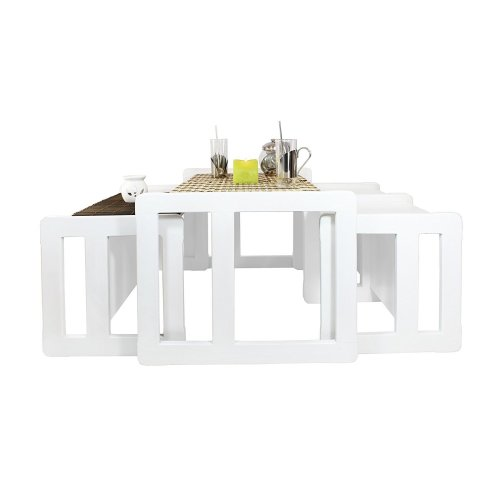 3 in 1 Adult's Multifunctional Nest of Coffee Tables Set of 4