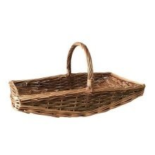 Small Curved Base Rectangular Country Unpeeled Garden Trugs