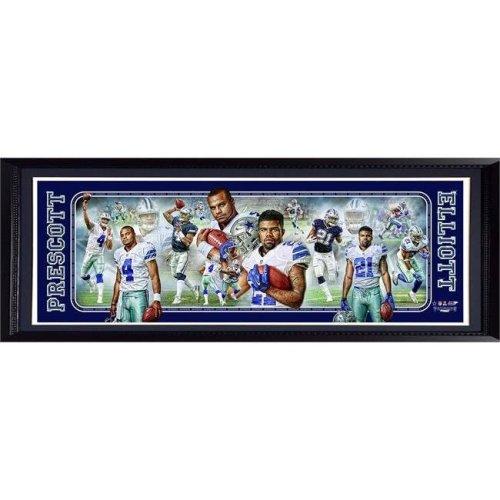 Encore Select 297-42 Dallas Cowboys Dak Prescott & Ezekiel Elliott Panoramic Frame