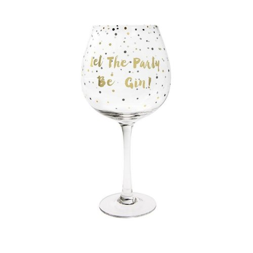 Lesser & Pavey Gold Edition Balloon Gin Glass - Let the Party be Gin