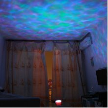 LED Aurora Projector Music Night Light