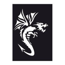 Dragon 2 Adhesive Stencil -  dragon 2 adhesive stencil 70x 100mm reusable air brush paint flexible wall