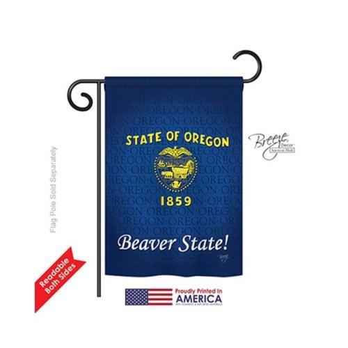 Breeze Decor 58109 States Oregon 2-Sided Impression Garden Flag - 13 x 18.5 in.