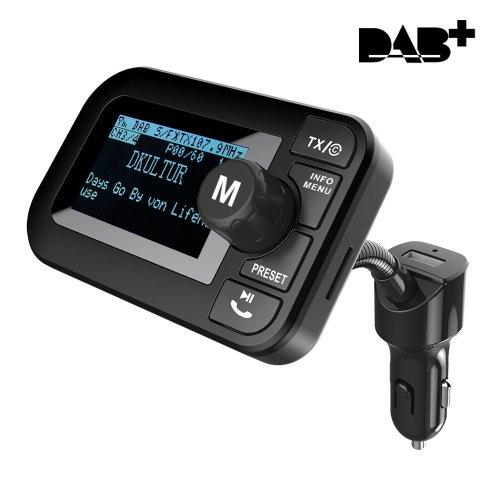 FirstE Car DAB/DAB+ Radio with Bluetooth FM Transmitter Handsfree Call Car Kit Wireless MP3 Player Music Receiver, Portable Digital Radio Broadcast...
