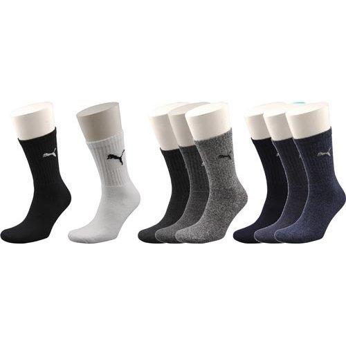 Uk 9-11 Black Pack Of 3 Puma Short Crew Socks - Sports Pair Tennis 12 Casual -  socks puma sports 3 pair tennis crew pack 12 casual