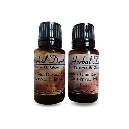 2 Pack Special Offer EXTRA STRENGTH Herbal Dentist Cure For Bad Breath, Gum Disease, Halitosis, Get Stronger Whiter Teeth, Oil Pulling
