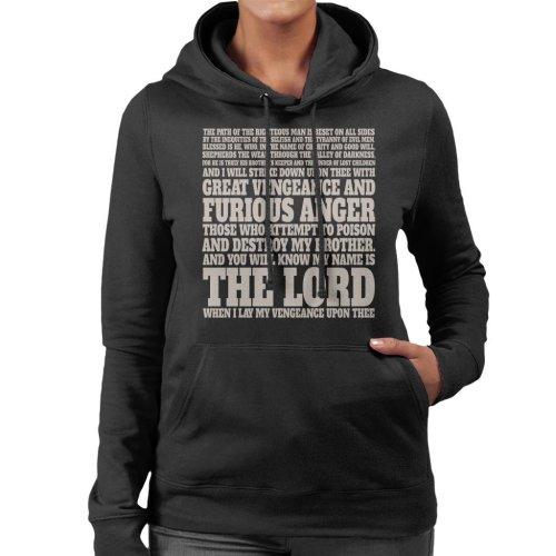 Jules Winnfield Bible Quote Pulp Fiction Women's Hooded Sweatshirt